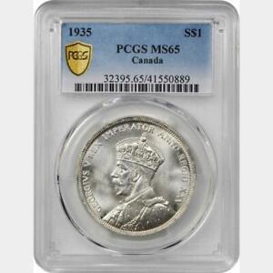 1935 Canada Dollar. PCGS MS 65. KM-30. Brilliant White. 0889