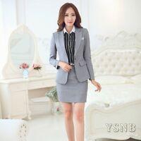 Noble Women OL work wear jacket formal blazer set office business suit skirt 2pc