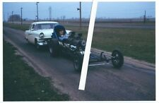 1960s Drag Racing-Dual Chevy Engine Supercharged Dragster-Great Lakes Dragaway