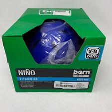 Bern Nino Kids Bike Helmet Size S-M Matte Blue Flip Visor