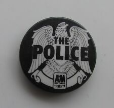 THE POLICE A&M RECORDS VINTAGE METAL PIN BADGE FROM THE 1980's POP RETRO STING