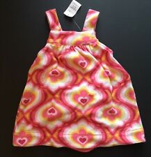 NWT New Baby Gap Paisley Pink Terry Heart Dress 12-18 Months