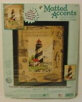 New Dimensions Lighthouse Sailboat USA Flag Counted Cross Stitch Kit Made in USA