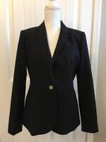 New J Crew Campbell Blazer in Italian Stretch Wool Black Sz 10 B3231