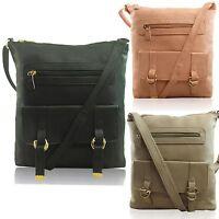 Small Ladies Shoulder Bags Faux Leather Wash Across Body Women Satchel UK
