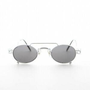 Small Silver Steampunk Aviator with Oval Lens -The Professor