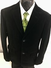 Indian Terrain Men BLACK Sport Coat FORMAL PROM SMOKING Jacket VELVET Blazer L