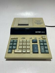 Vintage Victor 1260-2 Printing Business Calculator - USED! NO PAPER/INK!