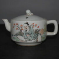 Chinese Old Famille Rose Character design Porcelain Teapot