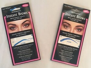Eye Brow Instant Shaping Stencils (ARCHED or ROUND)  --  FREE SHIPPING