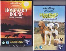 2 Dvd Disney IN FUGA A QUATTRO ZAMPE 1 + 2 ~ HOMEWARD BOUND import con italiano