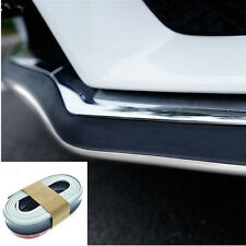 Black&White 2.5M Car Bumper Moulding Trim Kit Bumper Chin Lip Spolier Tuning New