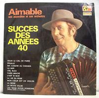 """33 tours AIMABLE Disque Vinyle LP 12"""" SUCCES DES ANNEES 40 Musette MONDIO 26 EX"""