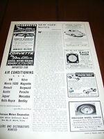 1959 CORVETTE BY DON ALLEN  - ORIGINAL VINTAGE AD   EXCELLENT CONDITION