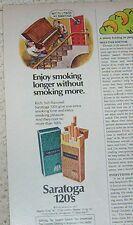 1978 advertising -Saratoga cigarettes- Piano movers men artwork art PRINT AD