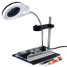 YIHUA#5200 628TD Small Working Station With A Bracket And The Magnifying Lamp