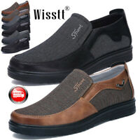 Mens Summer Leather Slip On Loafers Casual Antiskid Outdoor Shoes Multiple Sizes