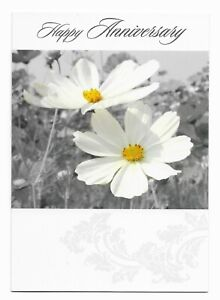Happy Anniversary Nice Flower Greetings Card by Cards For You- Free P&P