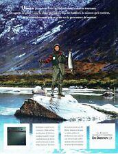 Publicité Advertising  0817  1993  De Dietrich four à chaleur tournante la peche