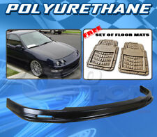FOR ACURA INTEGRA 94-97 T-M STYLE FRONT BUMPER LIP POLYURETHANE + FLOOR MAT PAIR