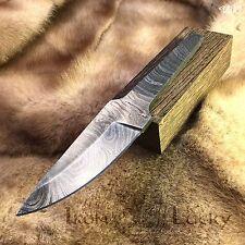 Handmade Damascus steel billet for knife classic + Wenge wood blank for handle.