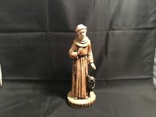 Saint Francis of Assisi-Wolf of Gubbio– ARTIGIANAR ITALY Hand Painted Statuette