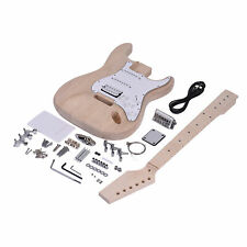 More details for st style electric guitar kit basswood body unfinished all parts diy set j7k8