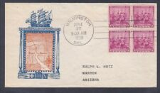 US 835 Ratification of the Constitution Block of 4 w/Cachet 1938 FDC Cover