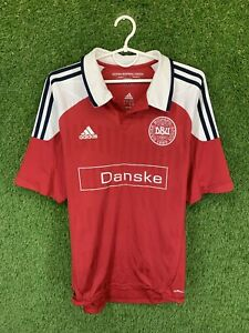 DENMARK TEAM 2012/2013 FOOTBALL SOCCER SHIRT JERSEY HOME ADIDAS ORIGINAL SIZE L