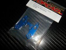 TOPCAD 12419B support amortisseur avant aluminium bleu Mini Inferno