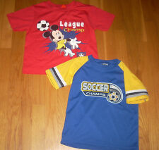 LOT 2 Cute TODDLER SOCCER SHIRT L NWT DISNEY/ 1 Athletic BOYS 5/6 ~ HOLIDAY GIFT