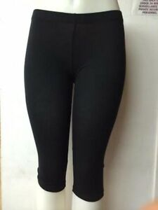 New women Black Cotton Yoga CAPRI LEGGINGS,SMALL/MEDIUM/LARGE