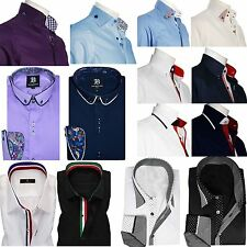Mens Formal Shirt Men Italian Dress Designer Casual Luxury Shirts Regular Fit