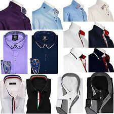 Mens Formal Shirt Men Italian Dress Designer Casual Luxury Shirts Regular Fit
