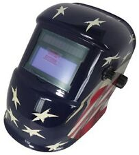 ATD USA Flag Design Auto-Darkening Solar Welding Hood, Large viewing area #3716