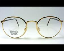 Vintage Panto Gold P3 Heavy 46-21 Small Wire Rim Eyeglass Frame 1980's NOS NEW