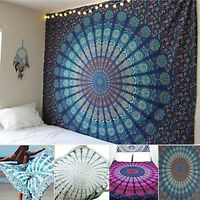 Indian Bedspread Hippie Mandala Tapestry Wall Hanging Beach Towel Throw Cover