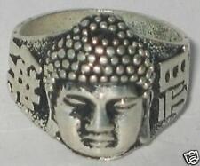 Rare Vintage Beautiful Ethnic&Tribal Tibet silver buddha ring Free Shipping