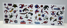 Lot 4 planches stickers spiderman loisirs jeux enfants gomettes autocollants