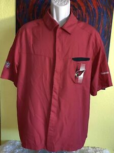 Men's Reebok NFL On Field Arizona Cardinals Snap Button Front Shirt Size Medium