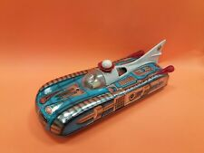 VINTAGE 1970's RARE SPACE CAR ROCKET TIN TOY LEMEZ BATTERY OPERATED