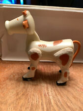 Fisher Price Vintage Little People #915 Farm Cow White w/Brown Spots