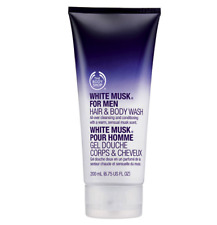 The Body Shop for Men WHITE MUSK Hair & Body Wash - 200ml - NEW