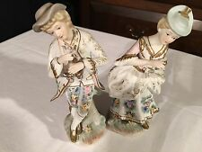 Lefton China Hand Painted Boy/Girl Figurines Vintage