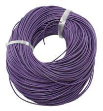 Bobine 5 mètres Cordon cuir violet Rond 2mm