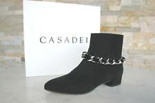 CASADEI Gr 40 Stiefeletten Ankle Boots Booties Schuhe schwarz neu ehem UVP 795 €