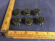 6 Vintage 9-Pin 12AX7 Preamp Vacuum Tube Sockets