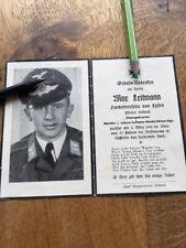 Sterbebild Melder Luftgau Nachrichten Regt. 1942 Russland gefallen