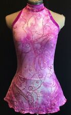 Purple Pink Figure Ice Skating Competition Dress