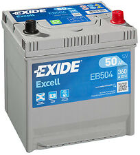 EB504 3 Year Warranty Exide Battery 50AH 360CCA W008SE Type 008